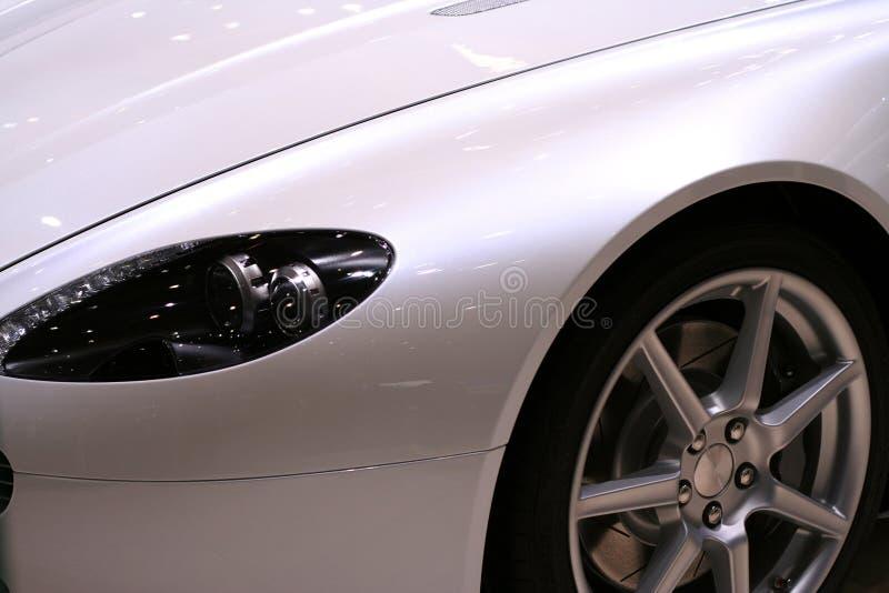 Sports car. Closeup of a sports car. No logo stock photos