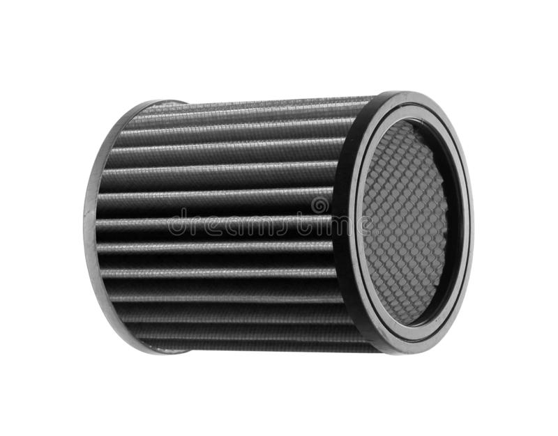 Sports car air filter. On white background stock photo