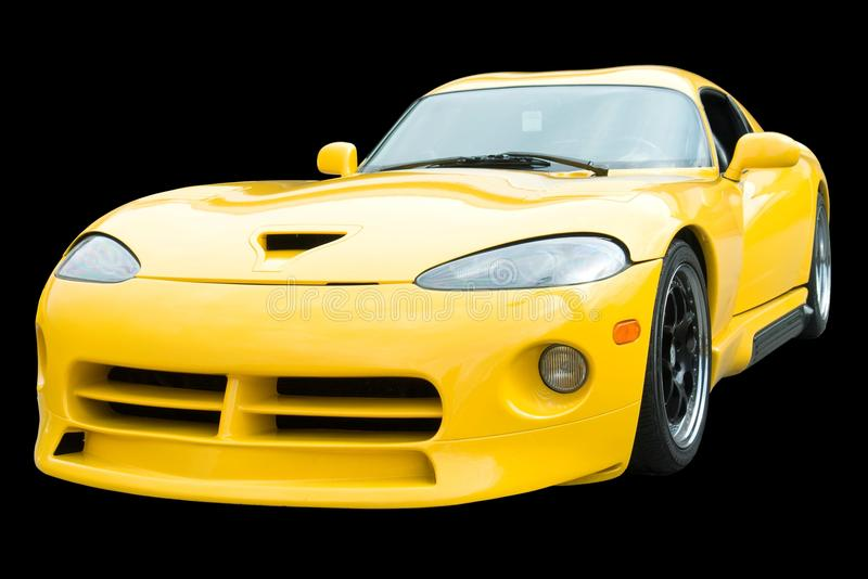 Sports Car American Yellow stock photography
