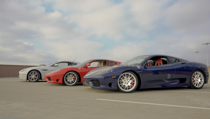 Download Sports Car Collection editorial stock image. Image of angled - 18412654