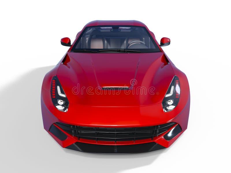 Sports car. 3D CG rendering of a sports car vector illustration