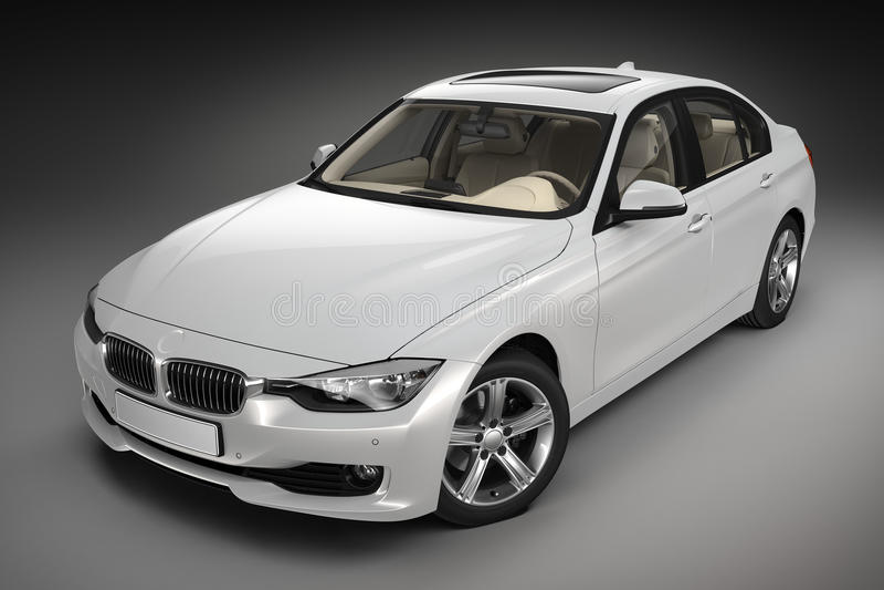 Sports car. 3d render royalty free illustration