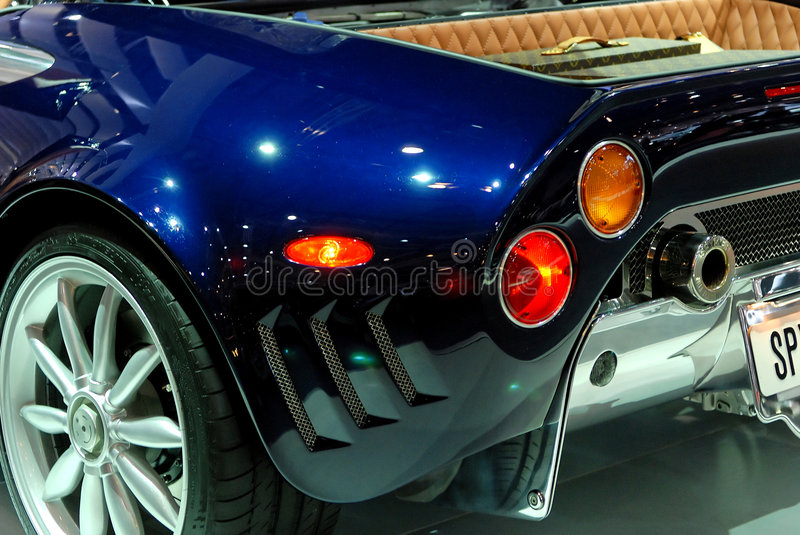 Sports car detail royalty free stock photos
