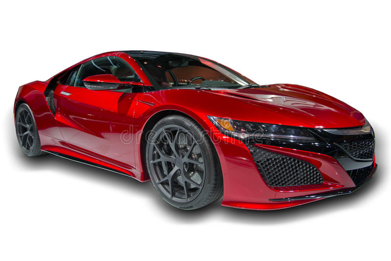 Red Sports Car Isolated royalty free stock photos