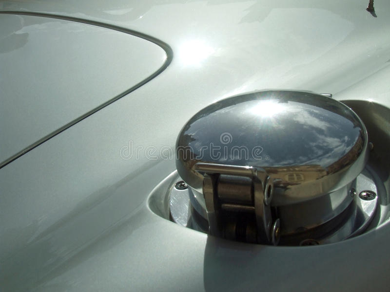 Sports Car Fuel Filler Cap royalty free stock images