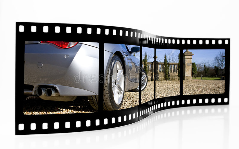 Download Sports Car Film Strip stock photo. Image of picture, reel - 6524398