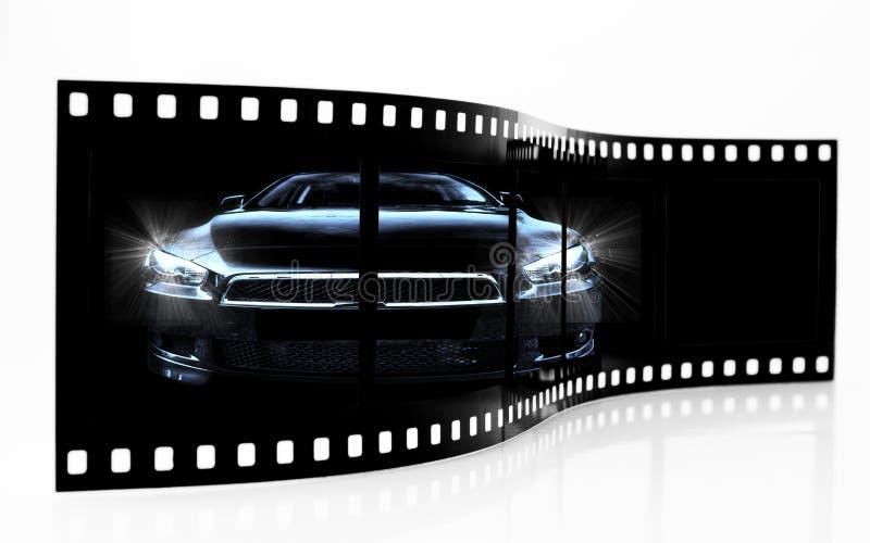 Sports Car Film Strip Stock Image