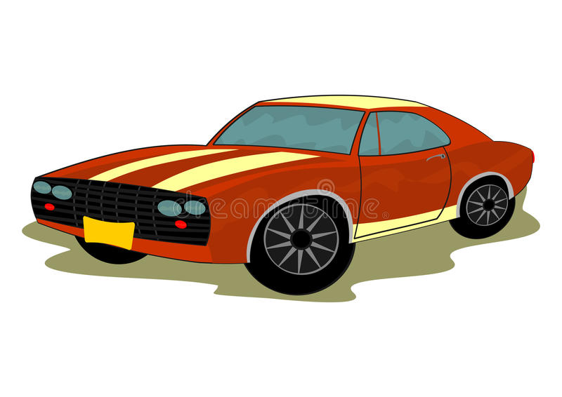 Sports car stock illustration