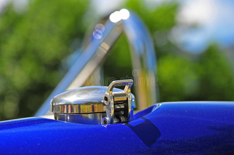 Sports car gas cap royalty free stock images