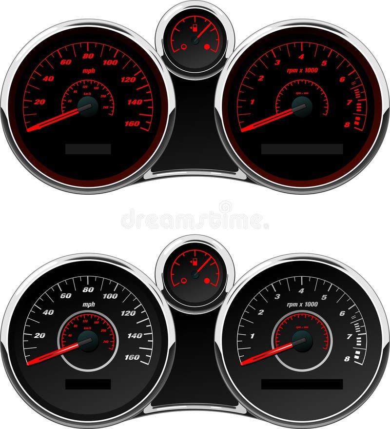 Free Sports Car Gauge Set Stock Photography - 4694972
