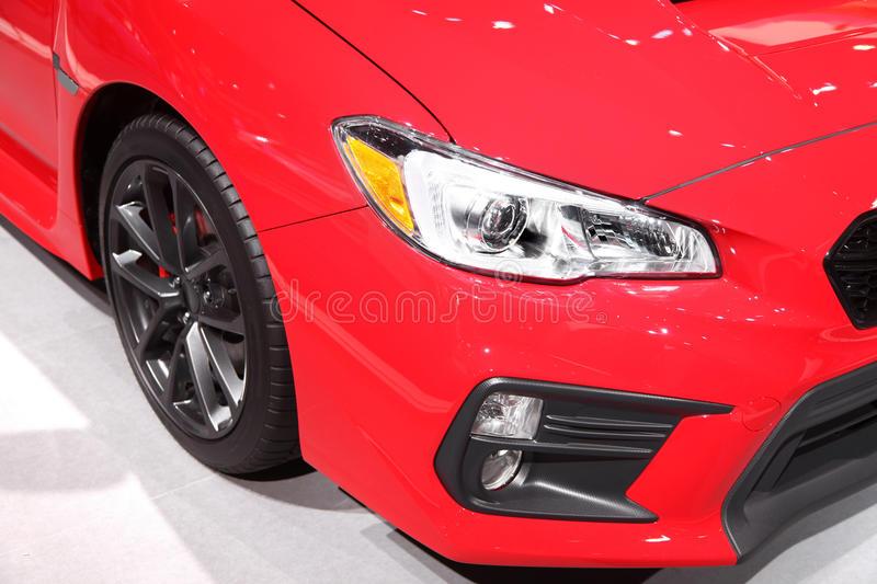 Sports car head lamp royalty free stock images