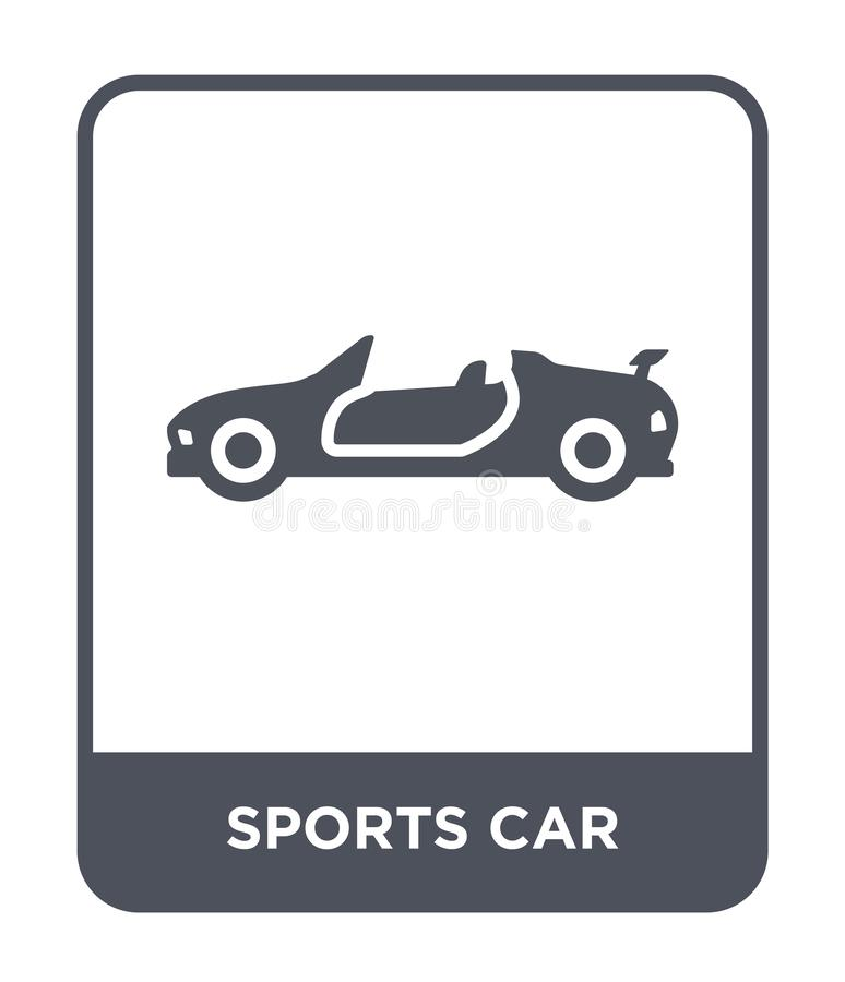 sports car icon in trendy design style. sports car icon isolated on white background. sports car vector icon simple and modern vector illustration