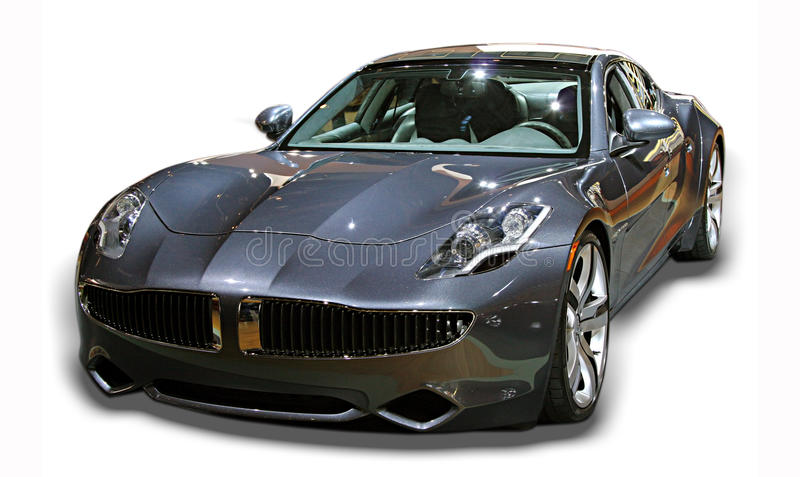 Sports Car Isolated. Isolated image of a sports car on a white background stock image