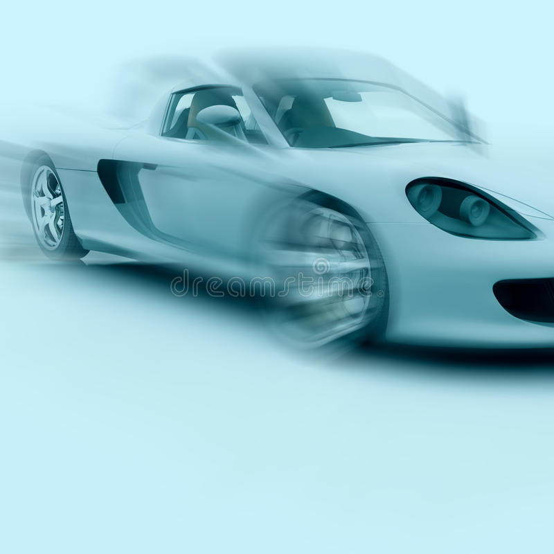 Sports Car in motion royalty free stock image