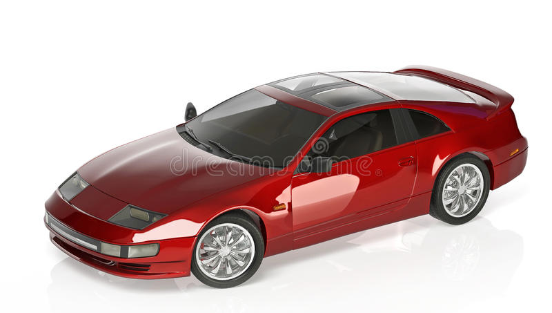 Sports car red royalty free illustration