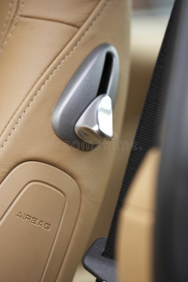 Free Sports Car Seat Lever Royalty Free Stock Photo - 17037365