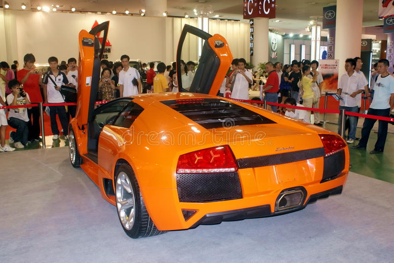 Download Sports Car Showed On Automobile Expo In Xiamen Editorial Stock Image - Image: 14293914