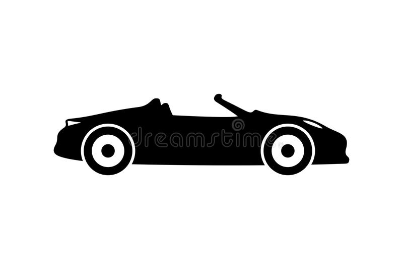 Sports car silhouette royalty free illustration