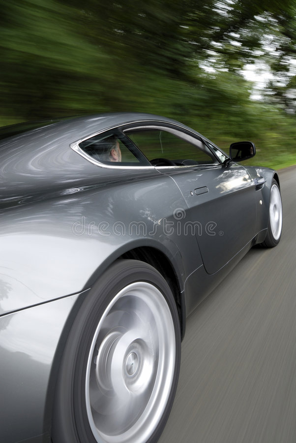 Download Sports car speeding stock photo. Image of motion, gray - 6029038