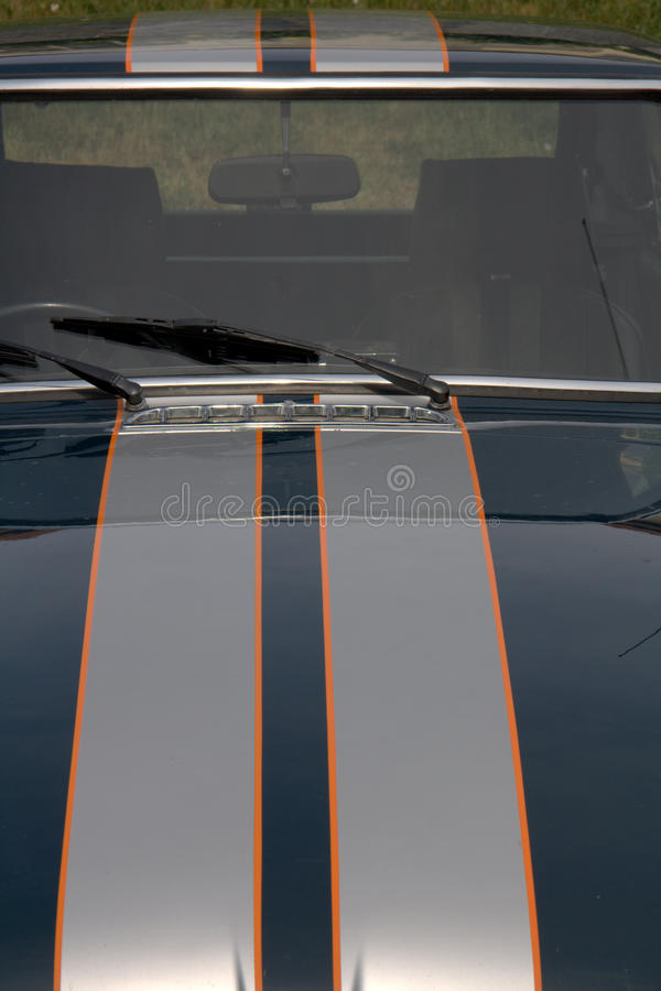 Sports car with stripes royalty free stock photo