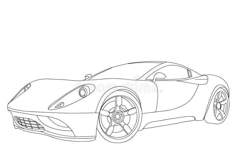 Sports car stock illustration
