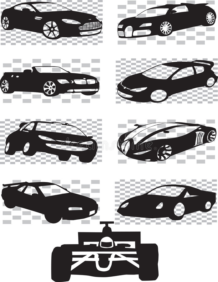Sports Cars royalty free illustration