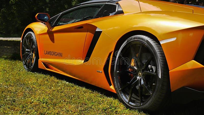 Sports Cars, Super-cars, Lamborghini Aventador stock photos