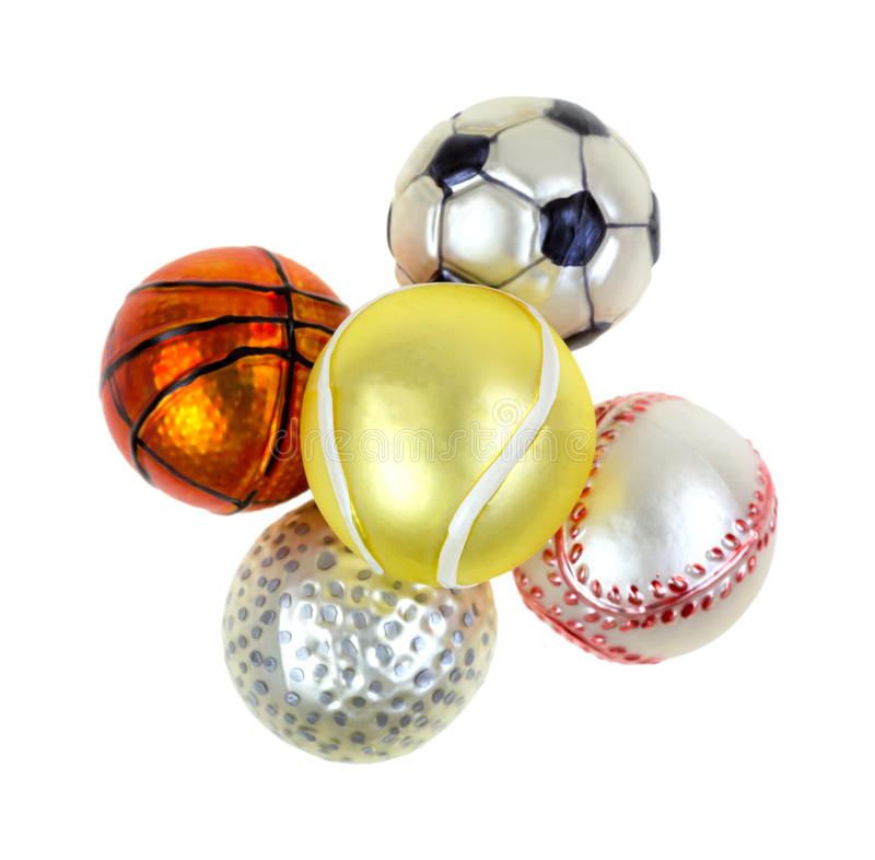 Sports Christmas Ornaments On White Background Royalty Free Stock ...