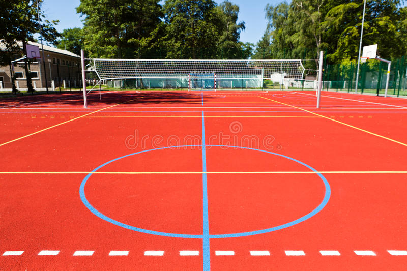 Sports complex. In summer park stock photography