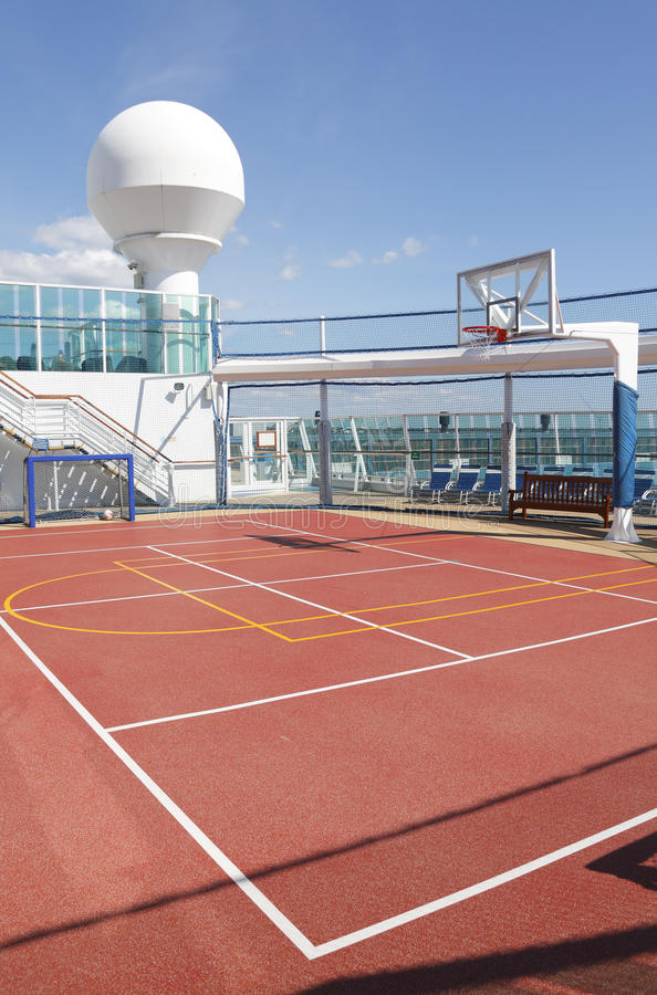 Sports court stock photo