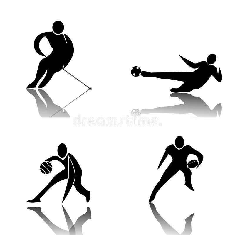 Sports d'équipe illustration libre de droits