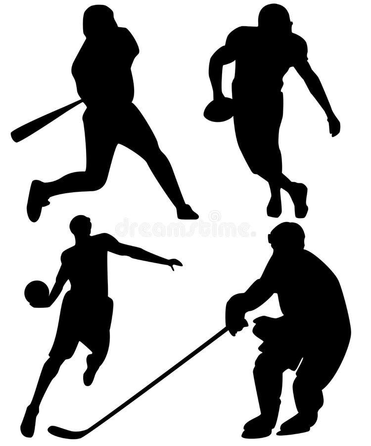 Sports d'équipe américains illustration libre de droits