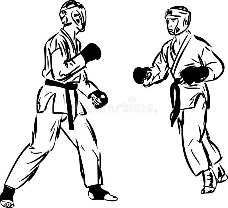 Sports d'arts martiaux de Kyokushinkai de karaté illustration stock