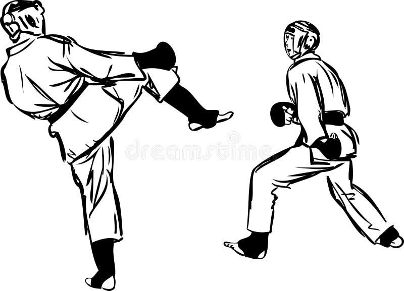 Sports d'arts martiaux de Kyokushinkai de karaté illustration libre de droits