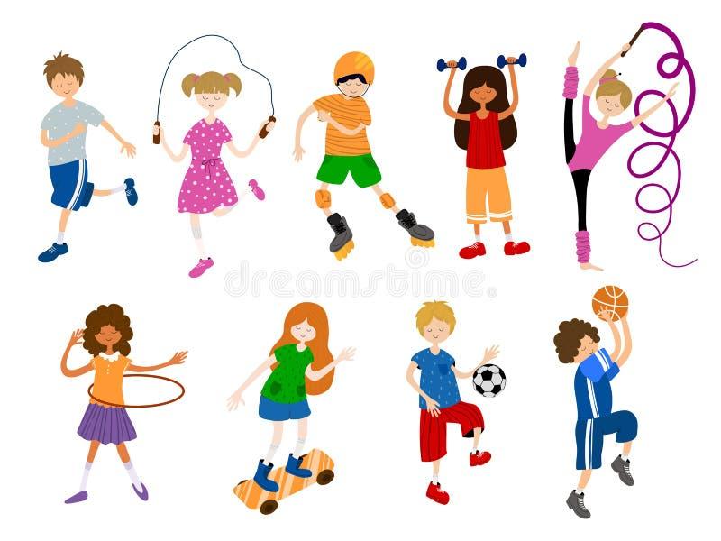 Sports d'enfants de vecteur illustration libre de droits