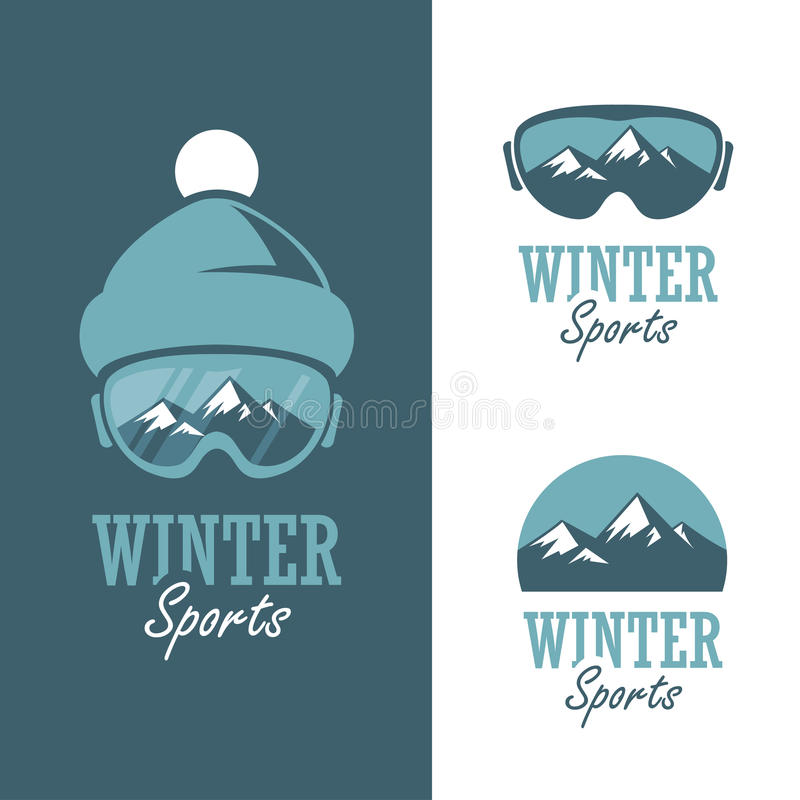 Sports d'hiver illustration de vecteur