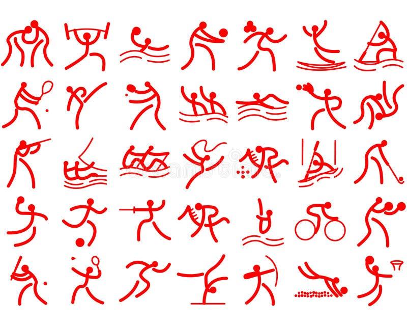 Sports d'Olimpic illustration de vecteur