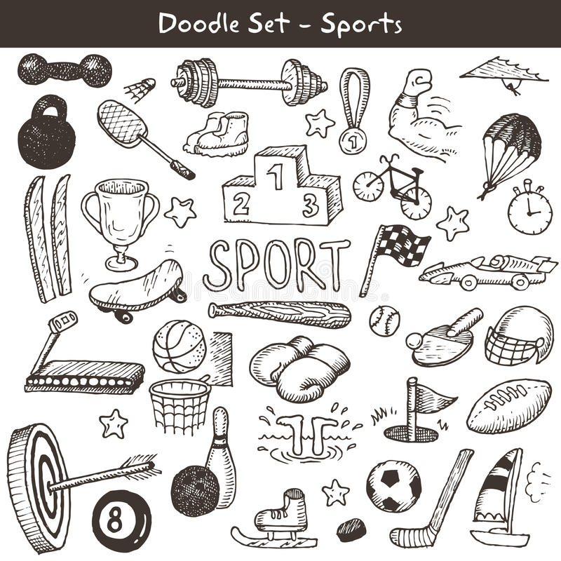 Sports de griffonnage. illustration libre de droits