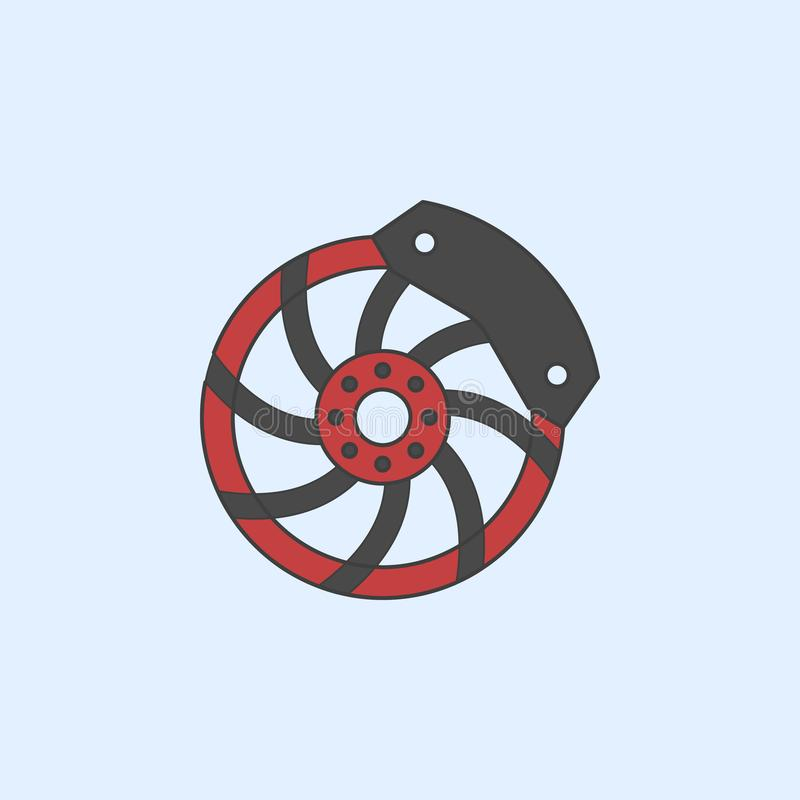 sports disc field outline icon. Element of monster trucks show icon for mobile concept and web apps. Field outline sports disc ico royalty free illustration
