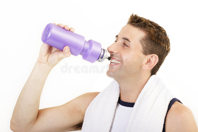 Sports drink stock image