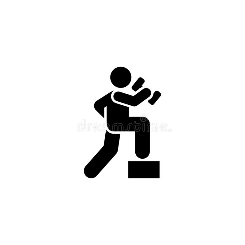 Sports, dumbbell, health, gym, man icon. Element of gym pictogram. Premium quality graphic design icon. Signs and symbols. Collection icon on white background stock illustration