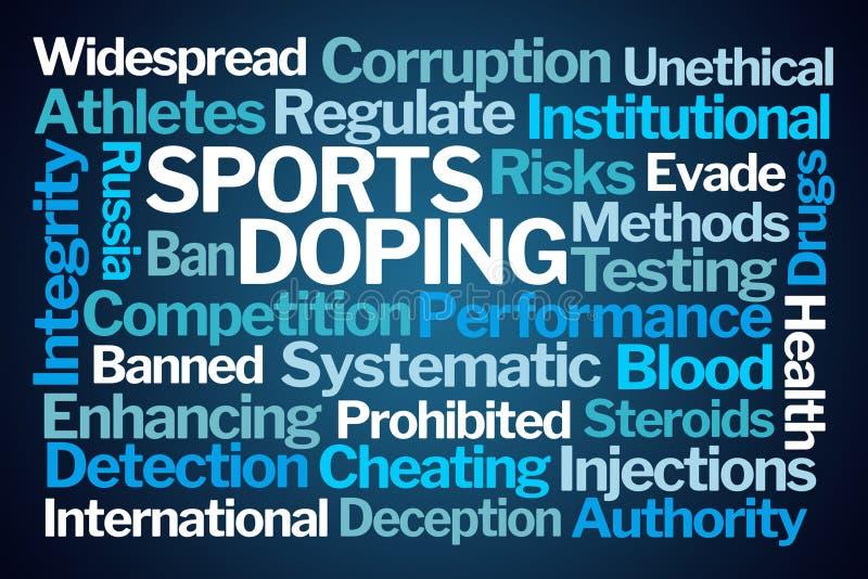 Sports enduisant le nuage de Word illustration de vecteur