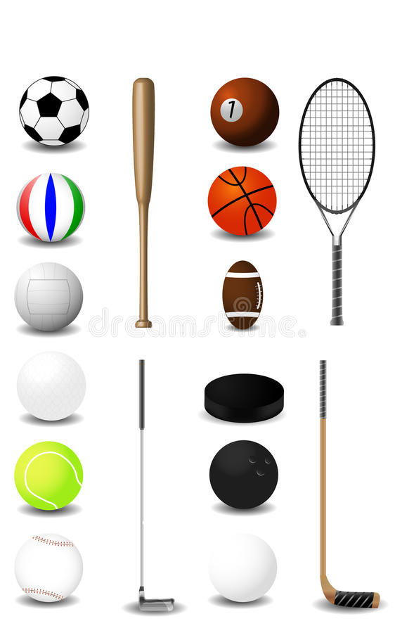 Sports equipment royalty free illustration