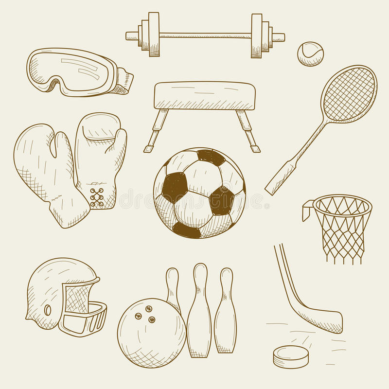 Download Sports equipment stock vector. Illustration of casual - 25929386