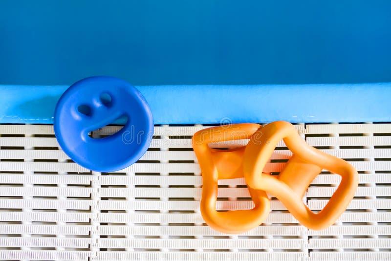 Sports equipment for aqua-gym stock photos