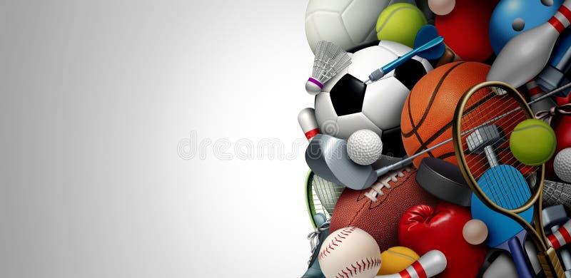 Sports Equipment Background royalty free illustration