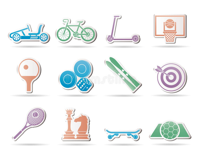 Download Sports Equipment And Objects Icons Stock Vector - Image: 18997737
