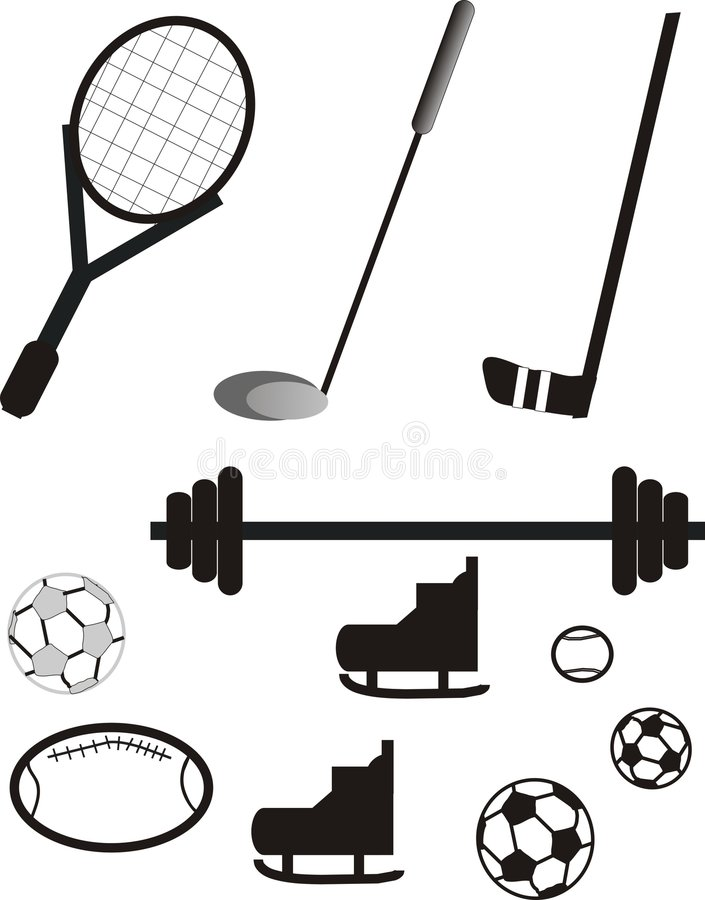 Free Sports Equipment Pictogram Royalty Free Stock Images - 7139359