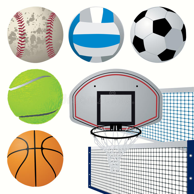 Sports Equipment Set Royalty Free Stock Photography