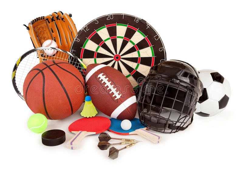 Sports et agencement de jeux photo stock